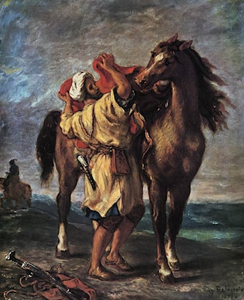 Marocan and his Horse by Eugene Delacroix