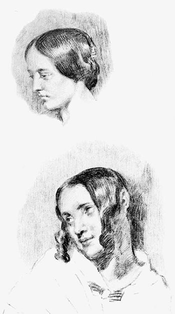 Study for Jenny Le Guillou and Joséphine de Forget by Eugene Delacroix