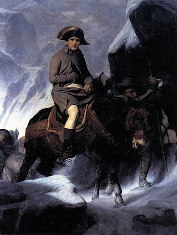 Bonaparte Crossing the Alps by Paul Delaroche