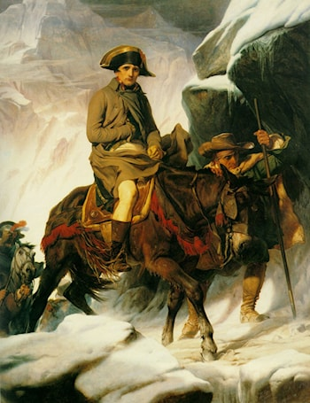 Napoleon Crossing the Alps by Paul Delaroche