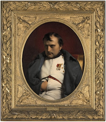 Napoleon at Fontainbleau, 31st March 1841 by Paul Delaroche