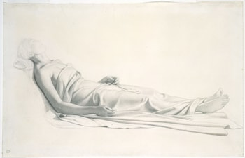 Drapery Study for the Figure of the Dying Mary Magdalen by Paul Delaroche