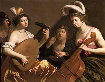 The Concert by Jan van Bijlert