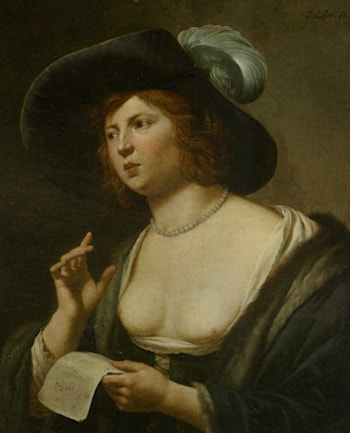 A Woman Singing by Jan van Bijlert