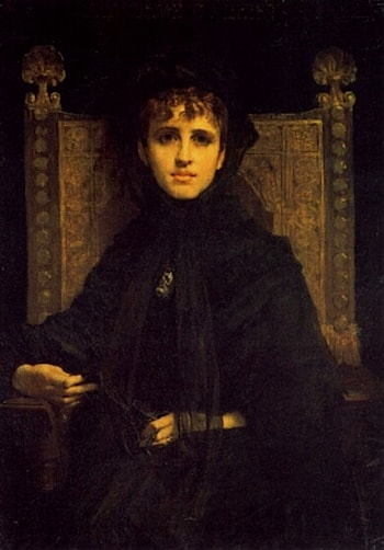 Mme. Georges Bizet by Jules-Elie Delaunay