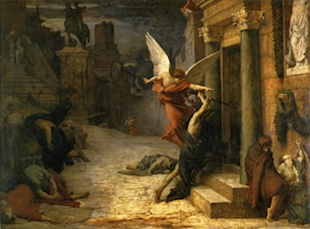 Plague in Rome by Jules-Elie Delaunay