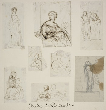 Group of Portrait and Compositional Studies by Jules-Elie Delaunay