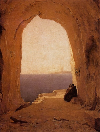 Grotto in the Gulf of Naples by Karl Blechen