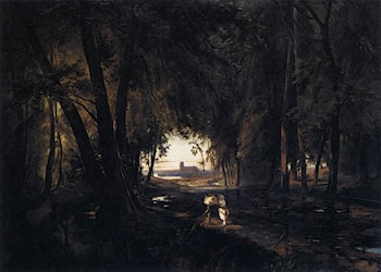 The Woods near Spandau by Karl Blechen