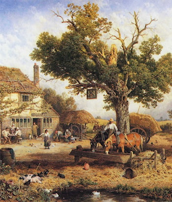 The Country Inn by Myles Birket Foster, R.W.S.
