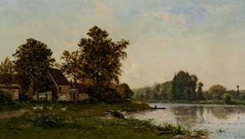 Washerwoman by the River by Hippolyte Camille Delpy