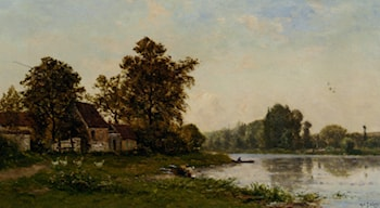 Washerwomen by the River by Hippolyte Camille Delpy