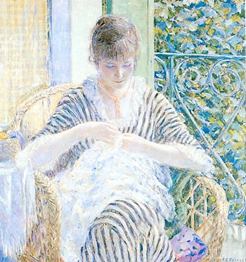 On the Balcony by Frederick Carl Frieseke
