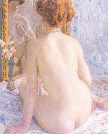 Reflections (Marcelle) by Frederick Carl Frieseke