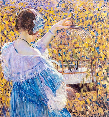 The Birdcage by Frederick Carl Frieseke