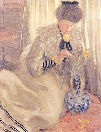 The Yellow Tulip by Frederick Carl Frieseke