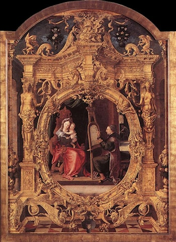 St Luke Painting the Virgin's Portrait by Lancelot Blondeel