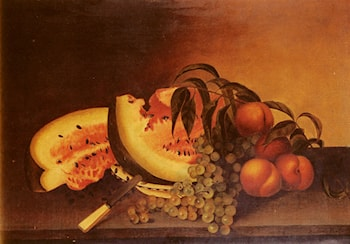 Still Life With Watermelon by Rubens Peale