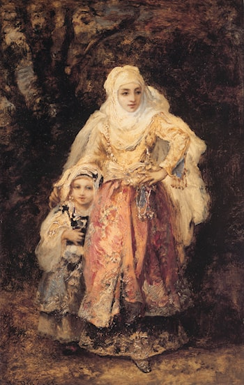 Oriental Woman and Her Daughter by Narcisse-Virgile Diaz de la Peña