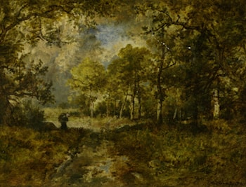 La Foret de Fountainebleau by Narcisse-Virgile Diaz de la Peña