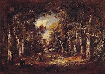 The Forest of Fontainebleau by Narcisse-Virgile Diaz de la Peña