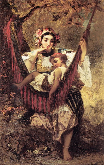 Mother and Child by Narcisse-Virgile Diaz de la Peña