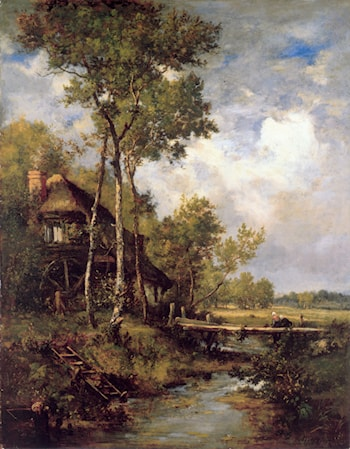 The Old Windmill near Barbizon by Narcisse-Virgile Diaz de la Peña