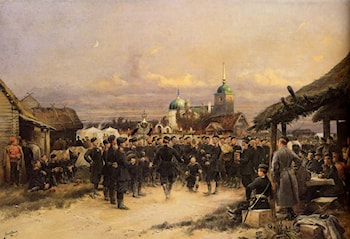 Chorus Of The Fourth Infantry Battalion At Tsarskoe Selo by Jean Baptiste Edouard Detaille