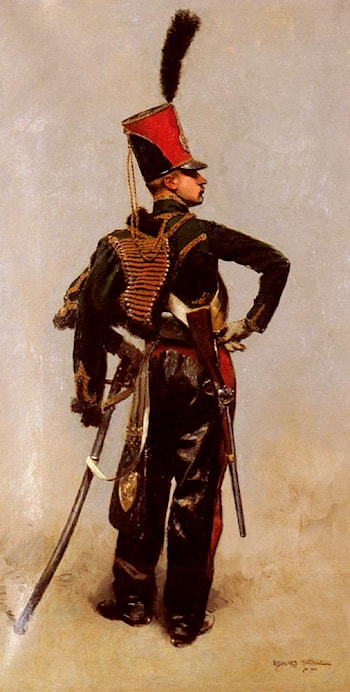 A Rank Soldier of the 7th Hussar Regiment by Jean Baptiste Edouard Detaille