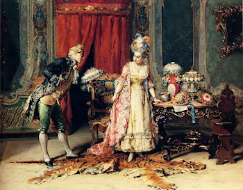 Flowers For Her Ladyship by Cesare-Auguste Detti