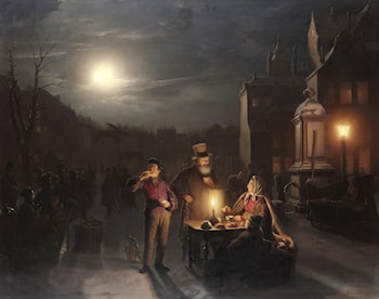 The Refreshment Stall by Petrus Van Schendel