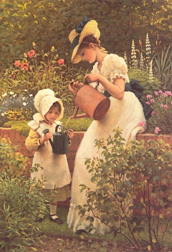 The Young Gardener by George Dunlop, R.A., Leslie
