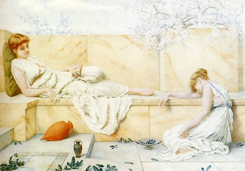 Two Classical Figures Reclining by Henry Ryland