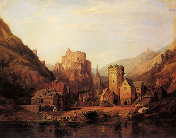 Balduinstein on the Lahn by Clarkson Stanfield