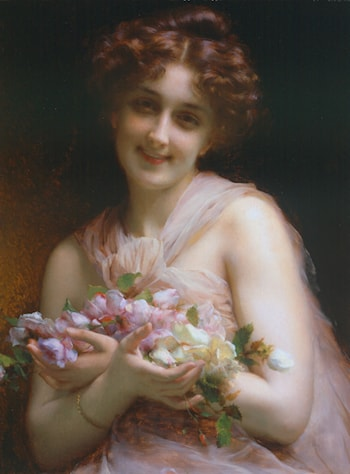Flowers by Etienne Adolphe Piot