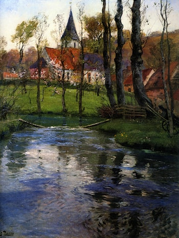 The Old Church by the River by Frits Thaulow