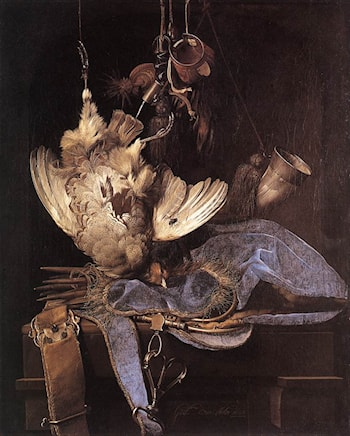Still­Life with Hunting Equipment and Dead Birds by Willem van Aelst