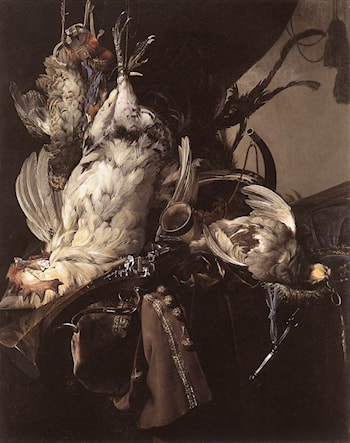 Still­Life of Dead Birds and Hunting Weapons by Willem van Aelst