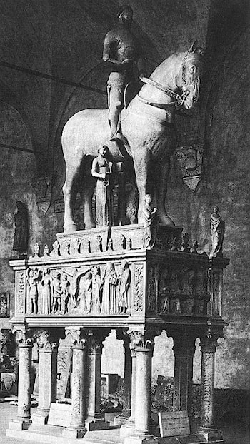 Monument to Bernabo Visconti by Bonino Da Campione