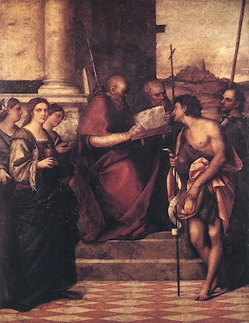 San Giovanni Crisostomo and Saints by Sebastiano del Piombo