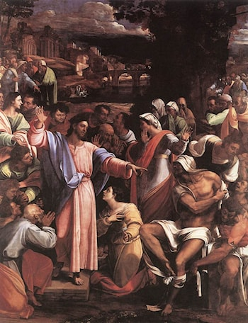 The Raising of Lazarus by Sebastiano del Piombo