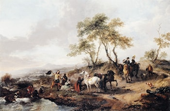 The Halt of the Hunting Party by Philips Wouwerman