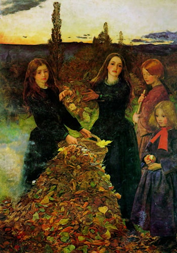 Autumn Leaves by John Everett Millais