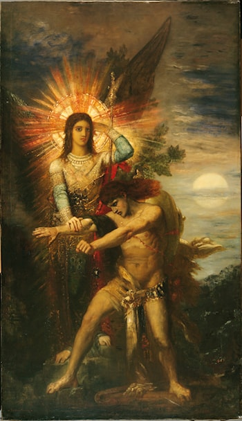 Jacob and the Angel by Gustave Moreau