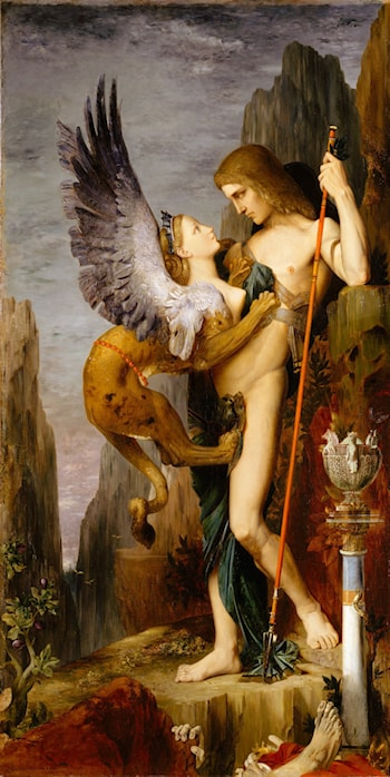 Oedipus and the Sphinx by Gustave Moreau