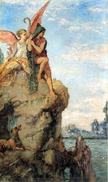 Hesiod and the Muse by Gustave Moreau