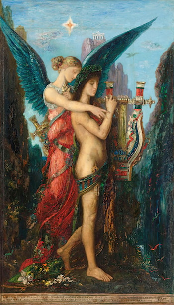 Hesiod and Muse by Gustave Moreau
