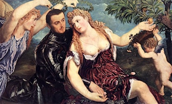 Allegory with Lovers by Paris Bordone