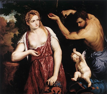 Venus and Mars with Cupid by Paris Bordone
