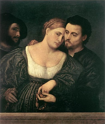 The Venetian Lovers by Paris Bordone